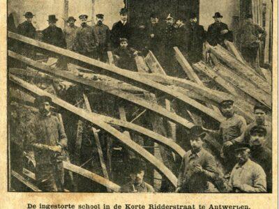 Arbeidsongeval tijdens de bouw van een school in de Korte Ridderstraat