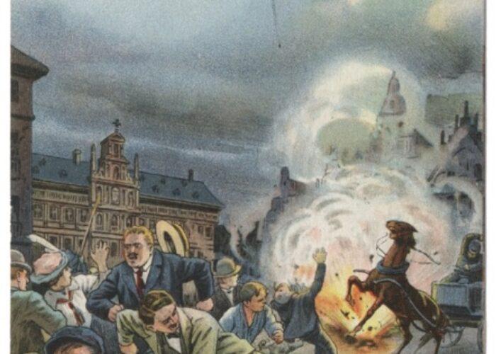 Antwerpen gebombardeerd door een zeppelin