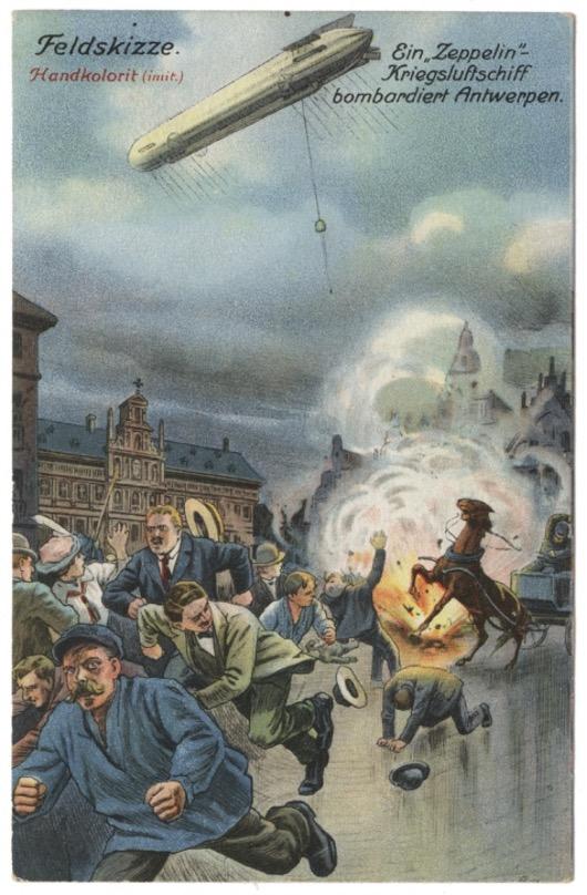 Je bekijkt nu Antwerpen gebombardeerd door een zeppelin